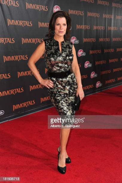 """Actress Marcia Gay Harden arrives at Relativity Media's """"Immortals"""" premiere presented in RealD 3 at Nokia Theatre L.A. Live at Nokia Theatre L.A...."""