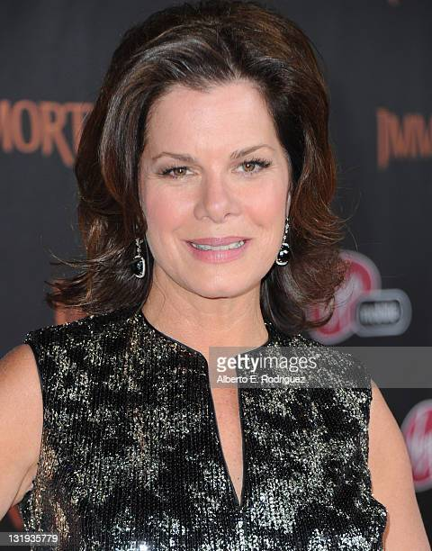 Actress Marcia Gay Harden arrives at Relativity Media's Immortals premiere presented in RealD 3 at Nokia Theatre LA Live at Nokia Theatre LA Live on...