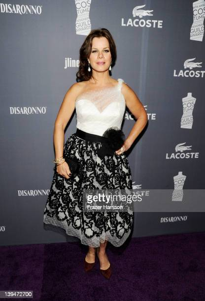 Actress Marcia Gay Harden arrives at the 14th Annual Costume Designers Guild Awards With Presenting Sponsor Lacoste held at The Beverly Hilton hotel...
