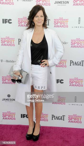 Actress Marcia Gay Harden arrives at the 2013 Film Independent Spirit Awards at Santa Monica Beach on February 23 2013 in Santa Monica California