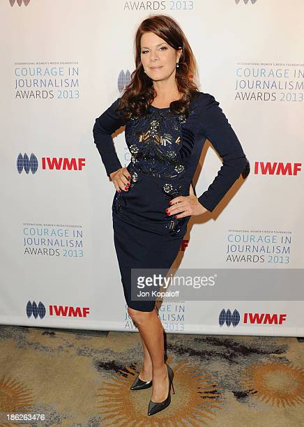 Actress Marcia Gay Harden arrives at the 2013 International Women's Media Foundation's Courage In Journalism Awards at Beverly Hills Hotel on October...