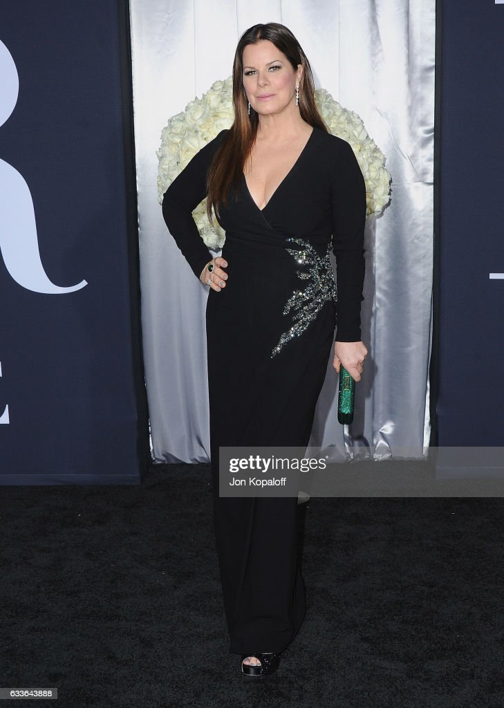Actress Marcia Gay Harden arrives at the Los Angeles premiere 'Fifty Shades Darker' at The Theatre at Ace Hotel on February 2, 2017 in Los Angeles, California.
