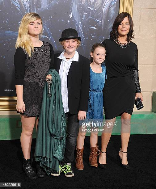 Actress Marcia Gay Harden arrives at the Los Angeles premiere of The Hobbit The Battle Of The Five Armies at Dolby Theatre on December 9 2014 in...