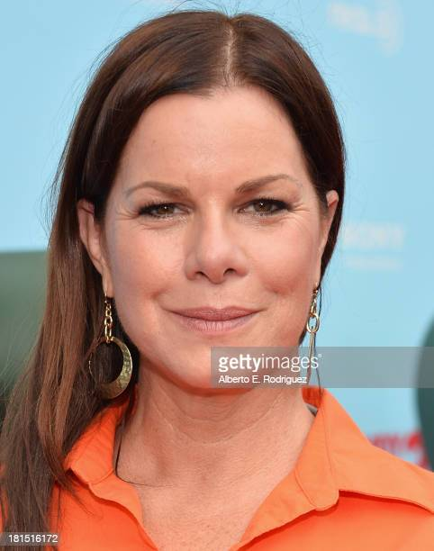 Actress Marcia Gay Harden arrives to the premiere of Columbia Pictures and Sony Pictures Animation's Cloudy With A Chance of Meatballs 2 at the...