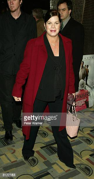 Actress Marcia Gay Harden attends a private screening of The Ladykillers on March 22 2004 at the Landmark Sunshine Cinema in New York City