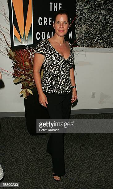 Actress Marcia Gay Harden attends an evening with the cast of Lennon hosted by The Creative Coalition on July 28 2005 in New York City
