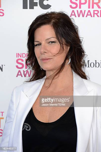 Actress Marcia Gay Harden attends the 2013 Film Independent Spirit Awards at Santa Monica Beach on February 23 2013 in Santa Monica California