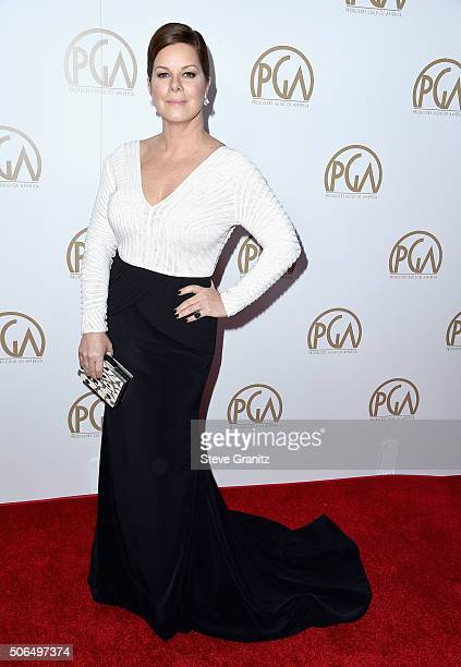 Actress Marcia Gay Harden attends the 27th Annual Producers Guild Awards at the Hyatt Regency Century Plaza on January 23 2016 in Century City...
