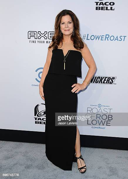 Actress Marcia Gay Harden attends the Comedy Central Roast of Rob Lowe at Sony Studios on August 27 2016 in Los Angeles California