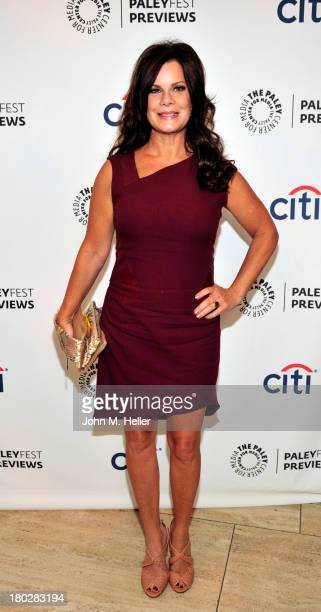 Actress Marcia Gay Harden attends the PaleyFest ABC Fall TV Preview of 'Trophy Wife' at The Paley Center for Media on September 10 2013 in Beverly...