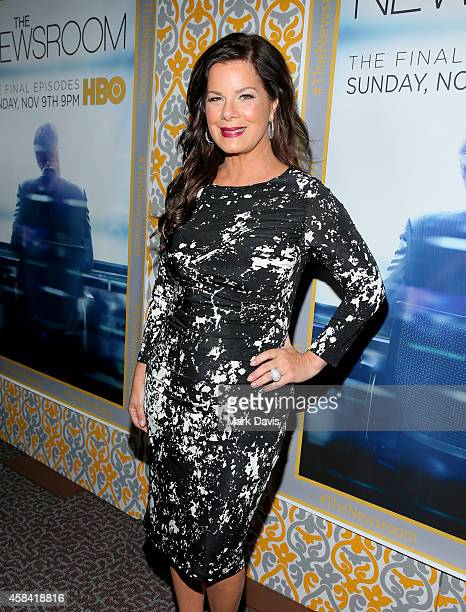 Actress Marcia Gay Harden attends the Premiere of HBO's The Newsroom Season 3 at Directors Guild Of America on November 4 2014 in Los Angeles...