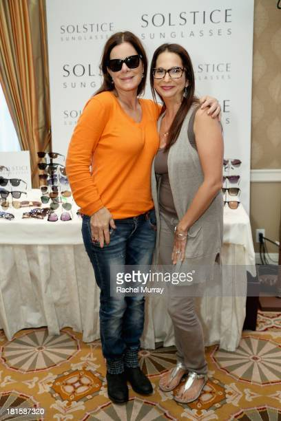 77bde80880df9 Actress Marcia Gay Harden in Marc by Marc Jacobs 437 sunglasses poses with  Director of Public