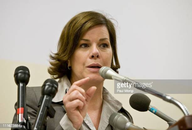 Actress Marcia Gay Harden talks about the need for increased mental health awareness at a Stigma of Mental Illness among Veterans and Public...