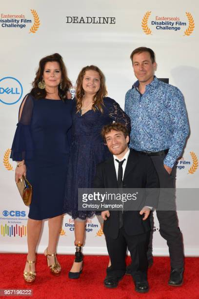 Actress Marcia Gay Harden with talent Emily Hopper actor Nic Novicki actor Kurt Yaeger arrive on the red carpet of United Talent Agency's 5th Annual...