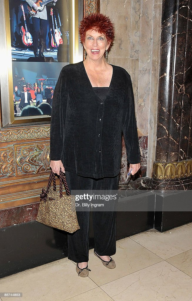 Actress Marcia Wallace arrives to the opening night of 'Rain: A Tribute To The Beatles' at The Pantages Theatre on March 31, 2009 in Los Angeles, California.