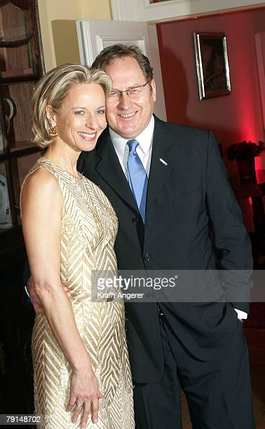Actress Mareike Carriere and Gerd Klement attend the Couple of the Year Event on January 21, 2008 in Hamburg, Germany.