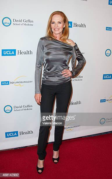 Actress Marg Helgenberger arrives at 2014 UCLA Visionary Ball at the Beverly Wilshire Four Seasons Hotel on October 30, 2014 in Beverly Hills,...
