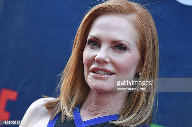 Actress Marg Helgenberger arrives at CBS CW And Showtime 2015 Summer TCA Party at Pacific Design Center on August 10 2015 in West Hollywood California