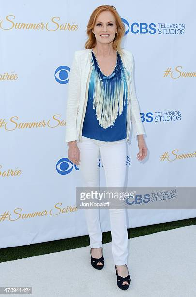 Actress Marg Helgenberger arrives at CBS Television Studios 3rd Annual Summer Soiree Party at The London Hotel on May 18, 2015 in West Hollywood,...