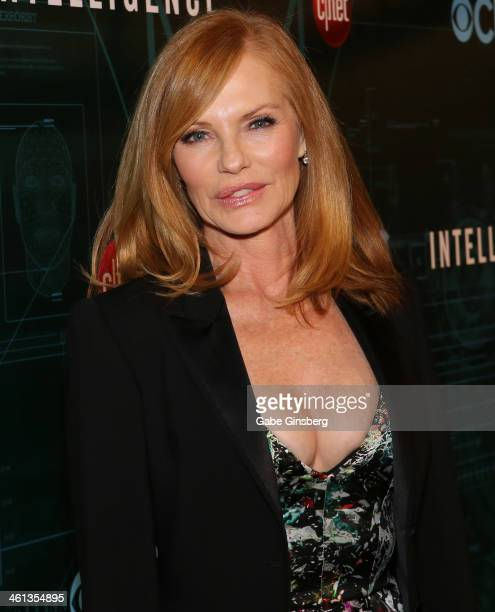 Actress Marg Helgenberger arrives at CNET'S premiere party for the CBS television show Intelligence during the 2014 International CES at the Tao...