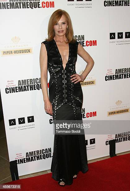 Actress Marg Helgenberger arrives at the 27th American Cinematheque Award honoring Jerry Bruckheimer at The Beverly Hilton Hotel on December 12 2013...