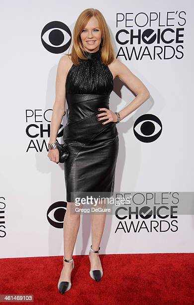 Actress Marg Helgenberger arrives at the 40th Annual People's Choice Awards at Nokia Theatre LA Live on January 8 2014 in Los Angeles California