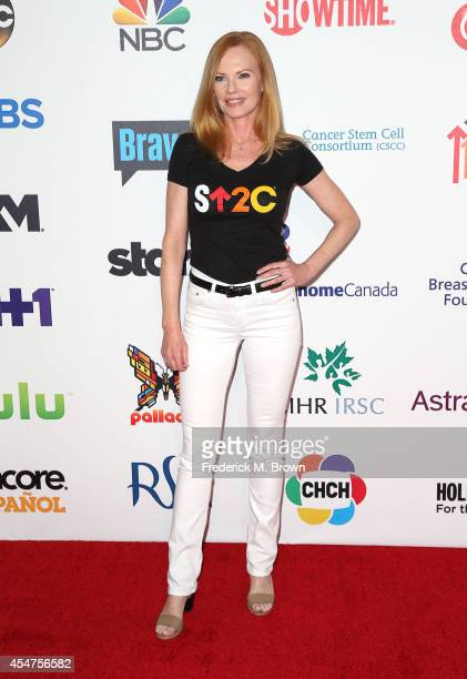 Actress Marg Helgenberger attends Hollywood Unites for the 4th Biennial Stand Up for Cancer a Program of the Entetainment Industry Foundation at the...