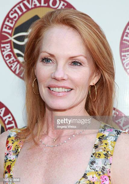 Actress Marg Helgenberger attends the 2010 Festival of Arts/Pageant of the Masters gala on August 28 2010 in Laguna Beach California