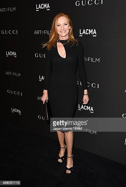 Actress Marg Helgenberger attends the 2014 LACMA Art Film Gala honoring Barbara Kruger and Quentin Tarantino at LACMA on November 1 2014 in Los...