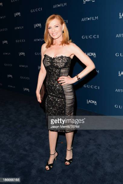 Actress Marg Helgenberger attends the LACMA 2013 Art + Film Gala honoring Martin Scorsese and David Hockney presented by Gucci at LACMA on November...