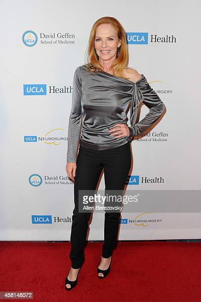 Actress Marg Helgenberger attends UCLA's 2014 Visionary Ball benefiting the Department of Neurosurgery at the Beverly Wilshire Four Seasons Hotel on...