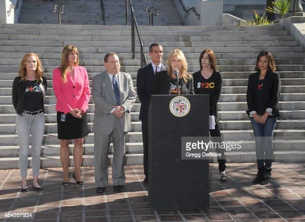Actress Marg Helgenberger Chief of Staff for Councilmember Paul Koretz Joan Pelico councilmember Paul Koretz Mayor Eric Garcetti Lisa Paulsen Ellen...