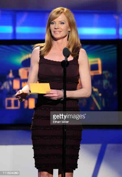 Actress Marg Helgenberger speaks onstage at the 46th Annual Academy Of Country Music Awards held at the MGM Grand Garden Arena on April 3 2011 in Las...