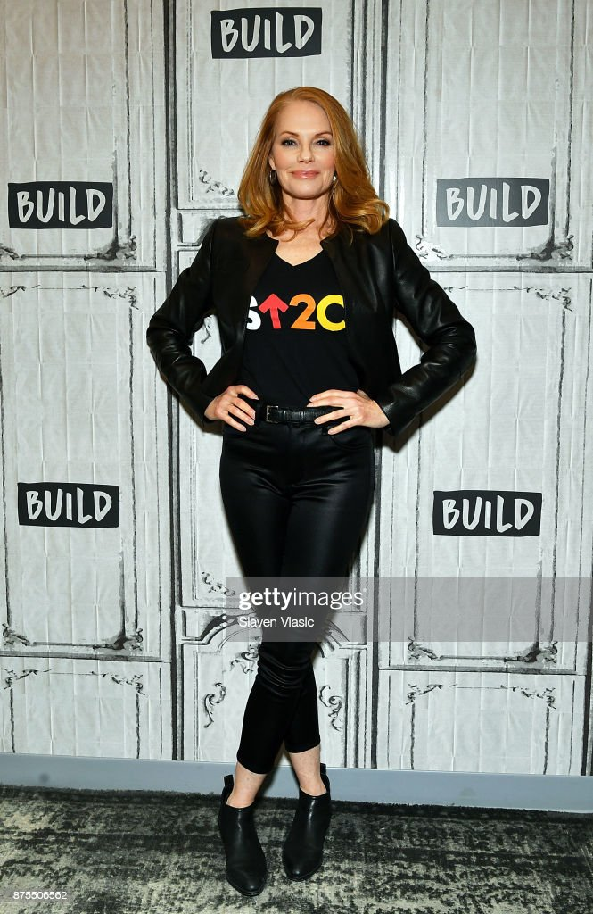 Actress Marg Helgenberger visits Build to discuss 'The Value Of A Dollar' campaign at Build Studio on November 17, 2017 in New York City.