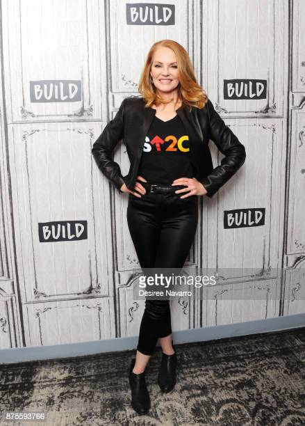 Actress Marg Helgenberger visits Build to discuss 'The Value Of A Dollar' Campaign at Build Studio on November 17 2017 in New York City