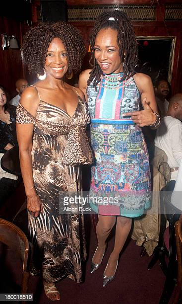 Actress Margaret Avery and Singer/Song Writer Siedah Garrett attend the Mr Sophistication Screening and After Party at the Three of Clubson September...