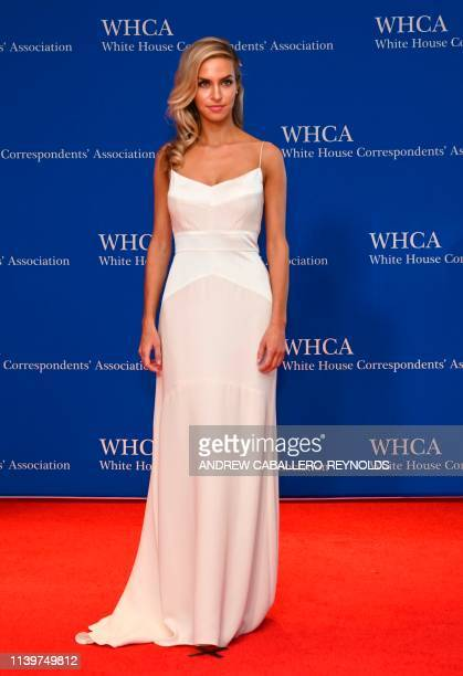 US actress Margaret Judson arrives on the red carpet during the White House Correspondents' Dinner in Washington DC on April 27 2019