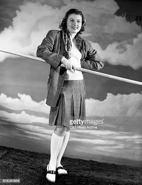 Actress Margaret Ledbetter models a plaid sports suit Image dated April 26 1940 New York NY Margaret married William Hammerstein in 1941