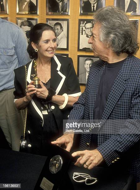 Actress Margaret O'Brien and Director Arthu Hiller attend a Press Conference to Announce Return of Margaret O'Brien's Long Lost Oscar on February 7,...
