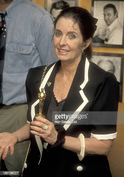 Actress Margaret O'Brien attends a Press Conference to Announce Return of Her Long Lost Oscar on February 7, 1995 at the Academy of Motion Picture...