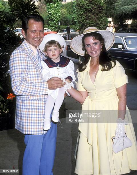 Actress Margaret O'Brien husband Roy Thorsen and daughter Mara Thorsen attend the Annual Celebrity Easter Sunday Brunch on March 24 1978 at Beverly...