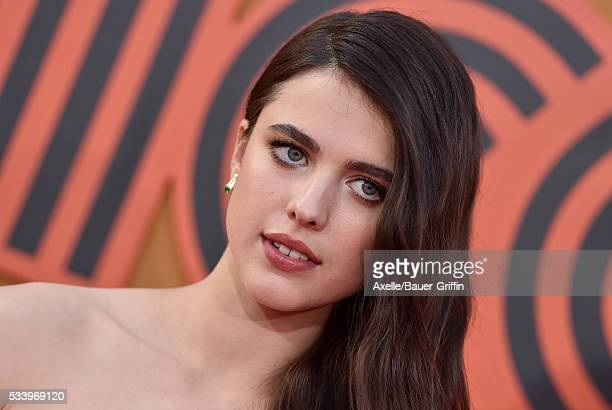 Actress Margaret Qualley arrives at the premiere of Warner Bros Pictures' 'The Nice Guys' at TCL Chinese Theatre on May 10 2016 in Hollywood...