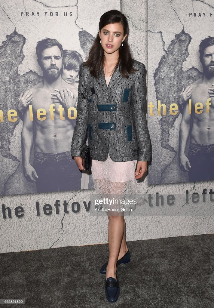 Actress Margaret Qualley arrives at the Season 3 Premiere of 'The Leftovers' at Avalon Hollywood on April 4, 2017 in Los Angeles, California.