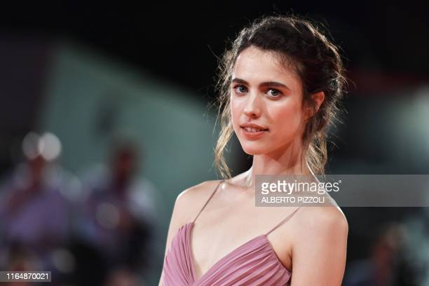 US actress Margaret Qualley arrives for the screening of the film Seberg presented out of competition on August 30 2019 during the 76th Venice Film...