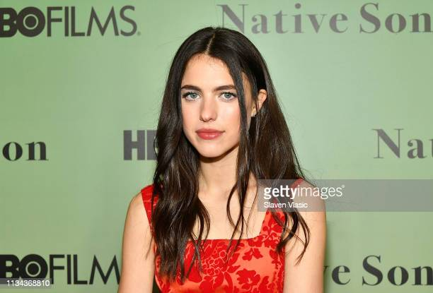 Actress Margaret Qualley attends HBO's Native Son screening at Guggenheim Museum on April 1 2019 in New York City