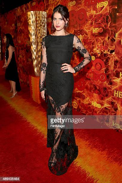 Actress Margaret Qualley attends HBO's Official 2015 Emmy After Party at The Plaza at the Pacific Design Center on September 20 2015 in Los Angeles...