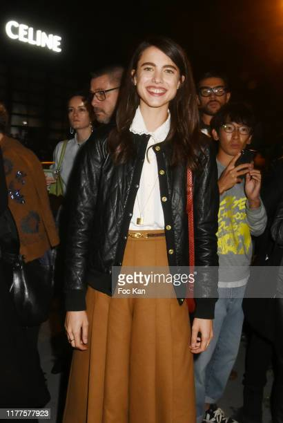 Actress Margaret Qualley attends the Celine Womenswear Spring/Summer 2020 show as part of Paris Fashion Week on September 27, 2019 in Paris, France.