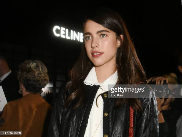 Actress Margaret Qualley attends the Celine Womenswear Spring/Summer 2020 show as part of Paris Fashion Week on September 27 2019 in Paris France