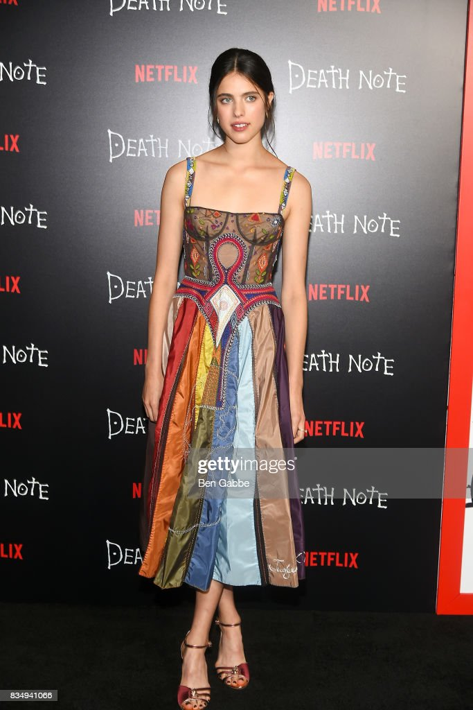 Actress Margaret Qualley attends the 'Death Note' New York premiere at AMC Loews Lincoln Square 13 theater on August 17, 2017 in New York City.