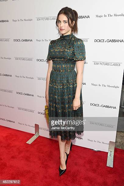 Actress Margaret Qualley attends the 'Magic In The Moonlight' premiere at the Paris Theater on July 17 2014 in New York City